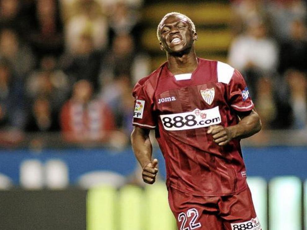 Arouna Koné, en un partido reciente con la camiseta del Sevilla.