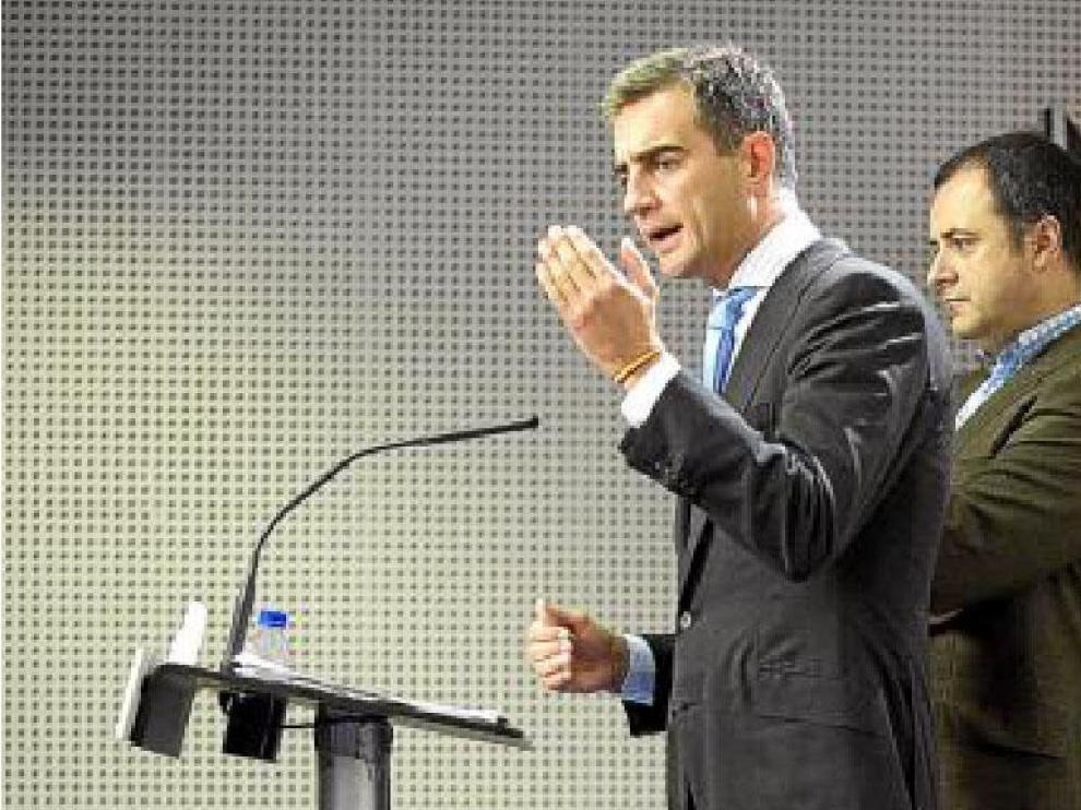 Ricardo Costa, a la izquierda, y David Serra, ayer.