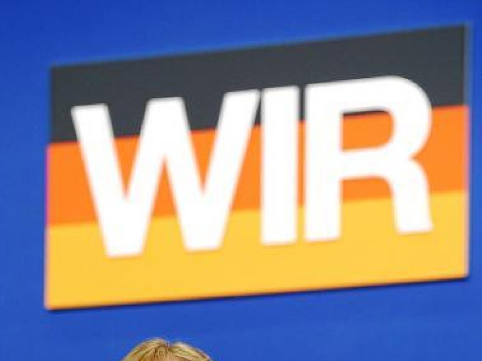 Angela Merkel, en el acto de cierre de su campaña.