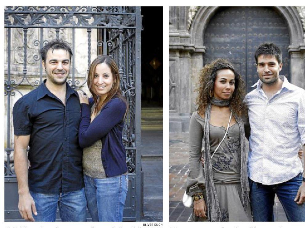 La boda de Vanesa Cocozza, de 29 años, y David Pérez, de 30 (i) fue una carrera de obstáculos: hipoteca, gastos de la boda y otros tres enlaces. Paula Fierro se quedó en paro pocos meses antes de su boda con Pablo Mayayo (d).