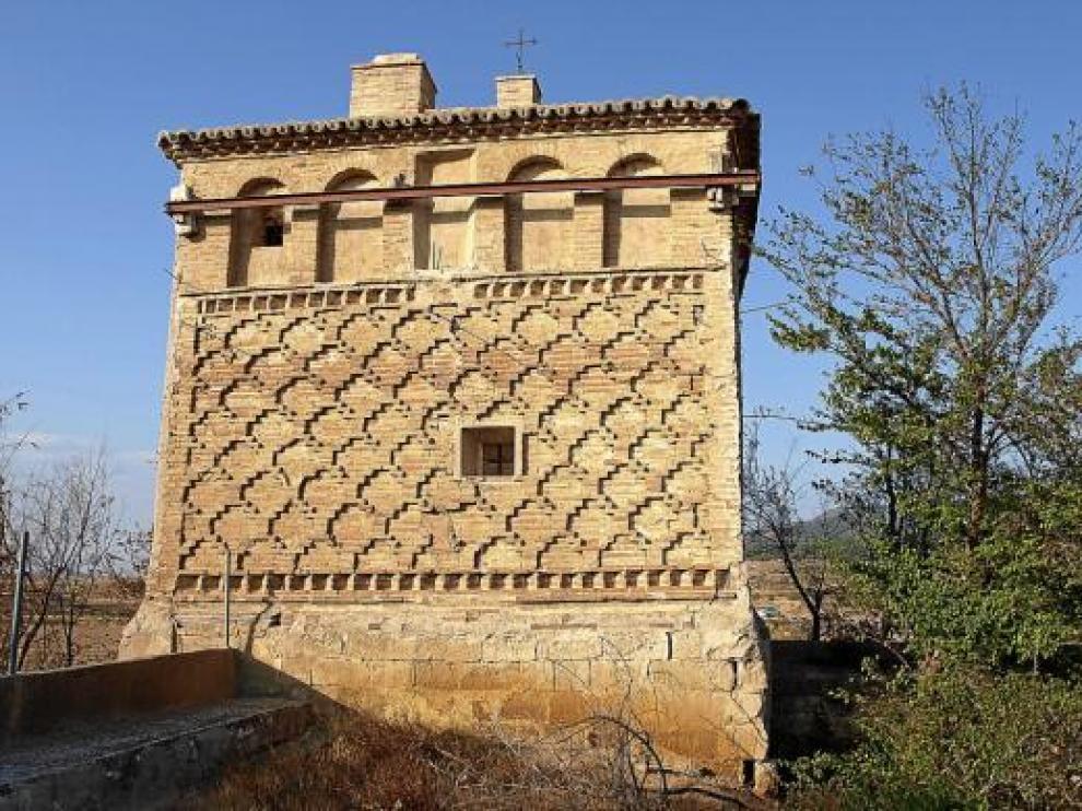 Daños en los cimientos de la Casa de la Estanca de Borja, de estilo mudéjar