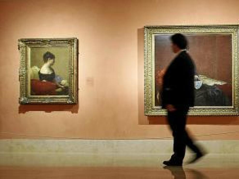 Aspecto de la exposición monográfica dedicada al pintor Fantin-Latour, en el Museo Thyssen-Bornemisza, en Madrid.