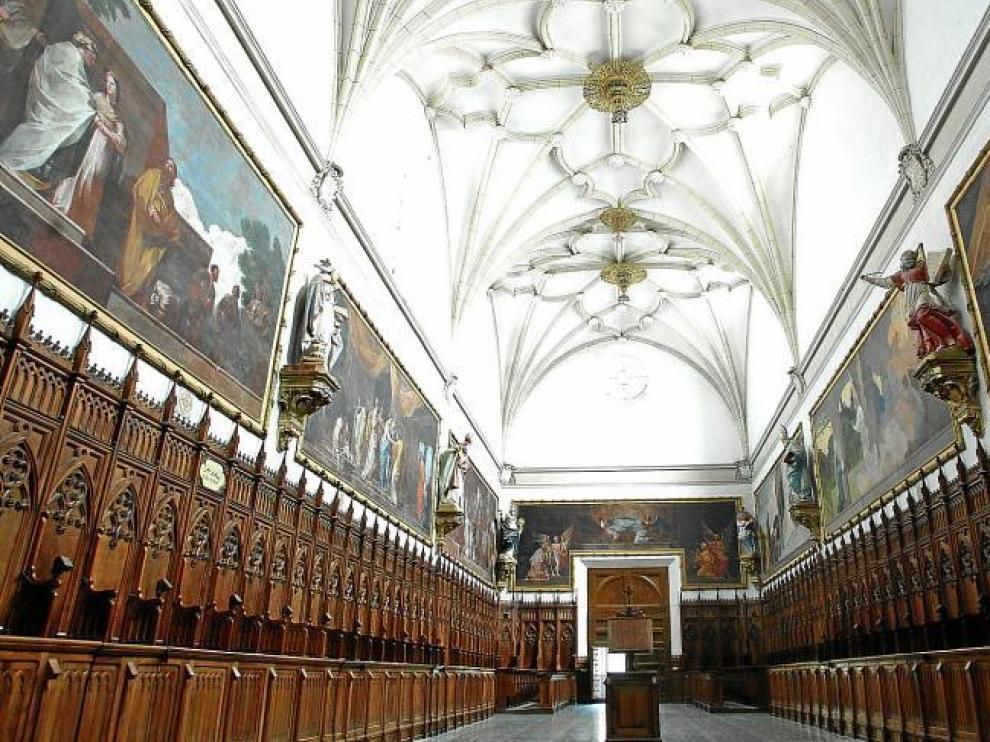 Empieza la restauración de las pinturas de Goya en la cartuja de Aula Dei