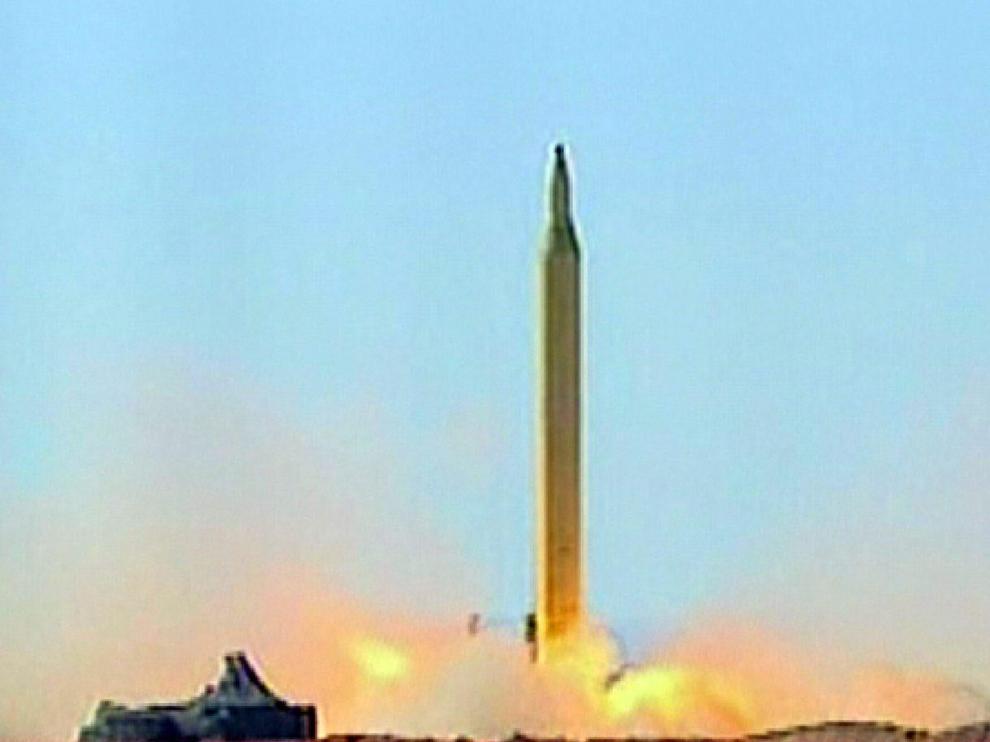 Lanzamiento de uno de los misiles de largo alcance