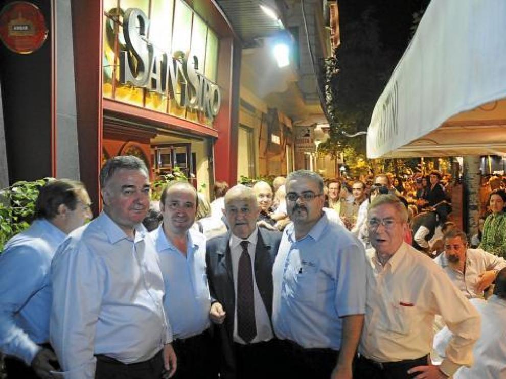 Jesús Bernad, Antonio Valenciano, Ángel Bolado, José Manuel Elías y Miguel Clemente.
