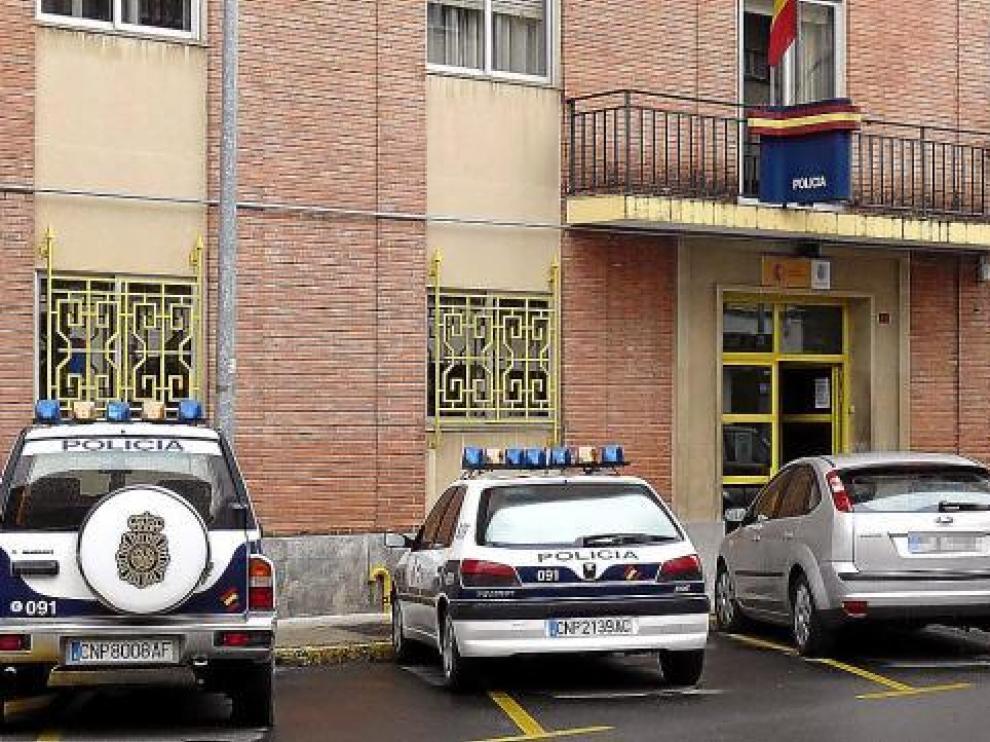 La comisaría de la Policía Nacional de Jaca, en la que trabajan alrededor de 45 agentes.