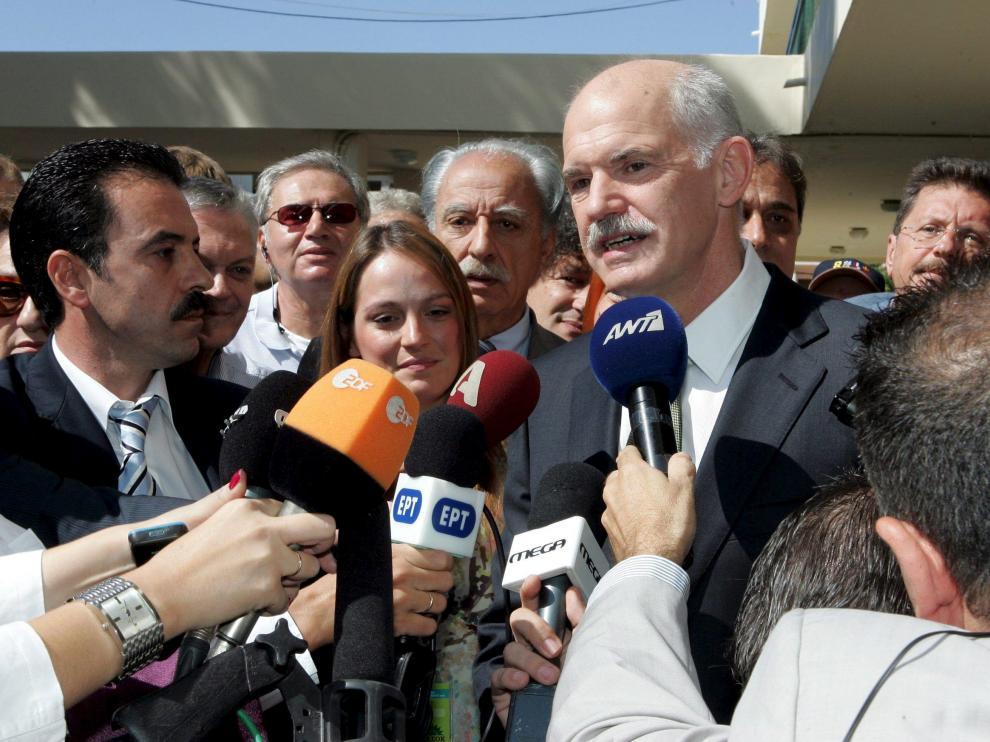 El líder del Movimiento Socialista Panhelénico (Pasok), Giorgos Papandreu