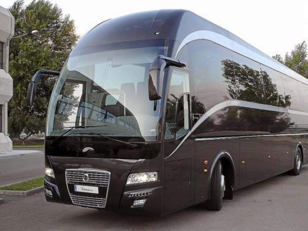 El nuevo Xerus, un autocar para largo recorrido, que fue presentado ayer por Hispano Carrocera.