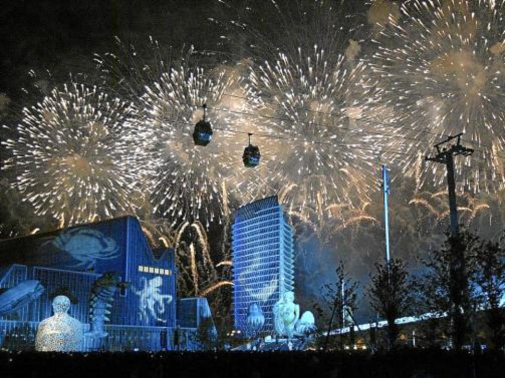 Imagen de la inauguración de la Expo, el 13 de junio de 2008