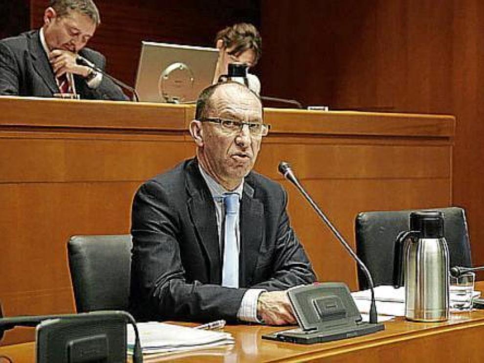El director general de Atención a la Dependencia, Luis Bo, ayer, en las Cortes