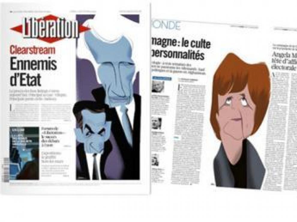 Las ilustraciones de Luis Grañena en 'Libération'.
