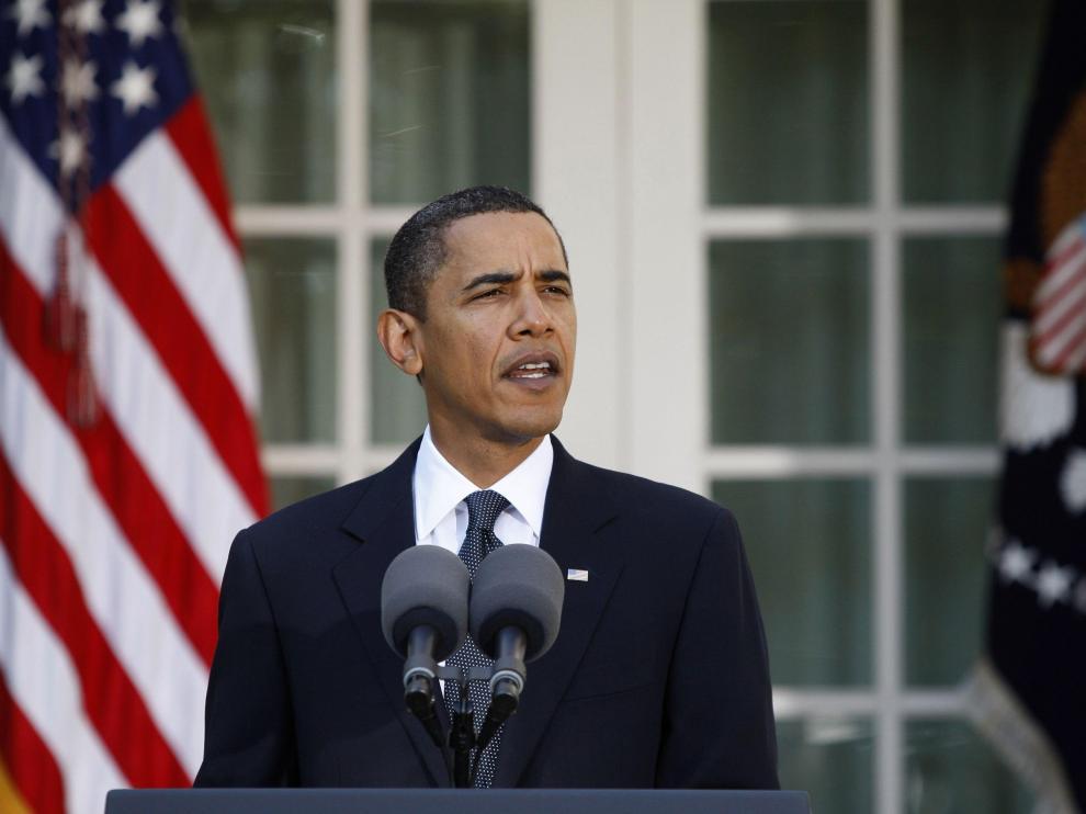 Declaración de Barack Obama a las puertas de la Casa Blanca
