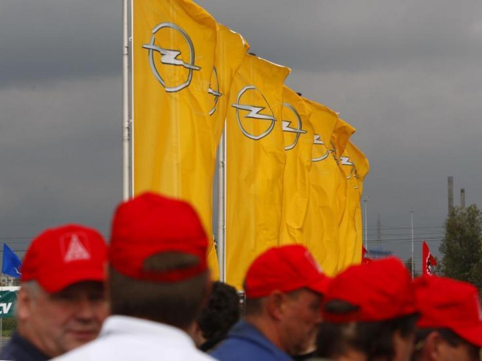 Imagen de archivo de la movilización de trabajadores europeos de GM en Amberes en septiembre.