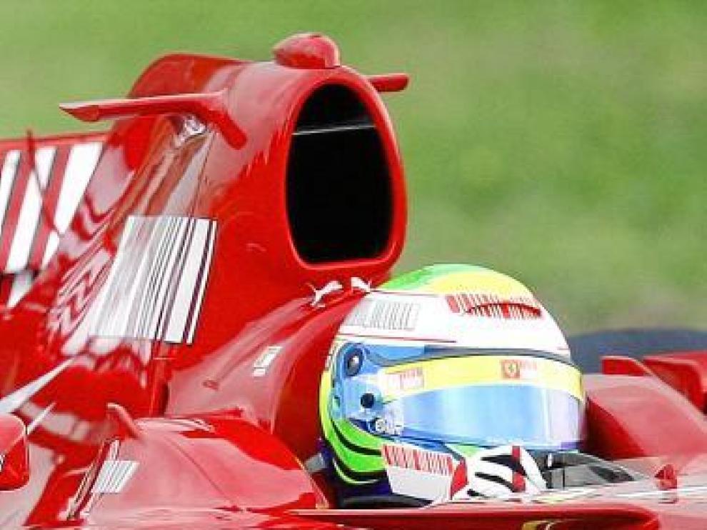Massa, en la sesión del circuito de Fiorano, en Maranello.