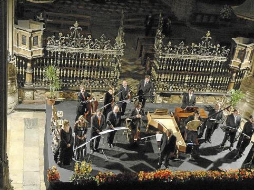 Los Músicos de su Alteza en una de sus intervenciones.