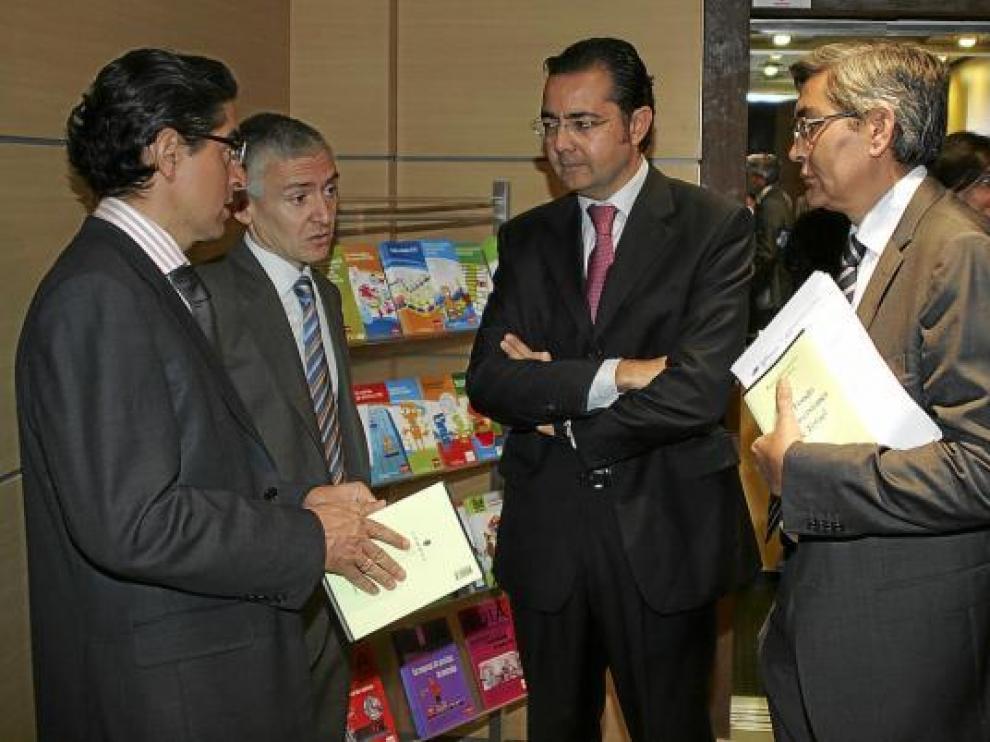 Ramón Barberán, Luis Antonio Sáez, Francisco Querol y José Antonio Pérez, de izquierda a derecha.