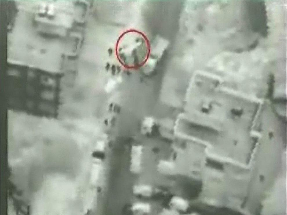 Imagen del supuesto intercambio de armamento, tomada por el Ejército israelí