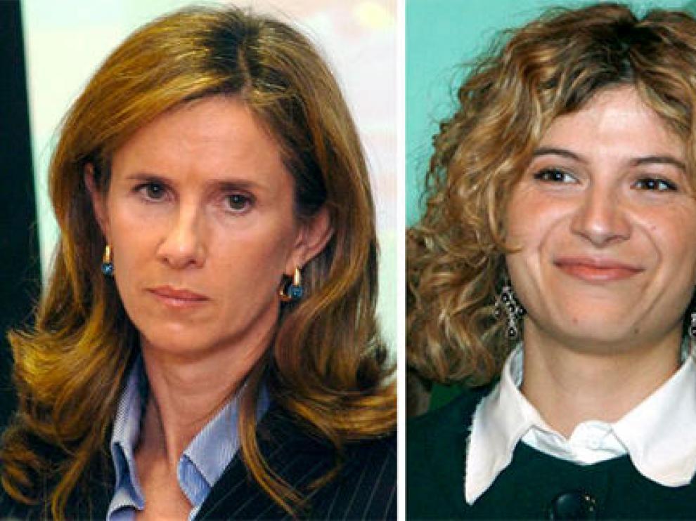 Las ministras Cristina Garmendia y Bibiana Aído