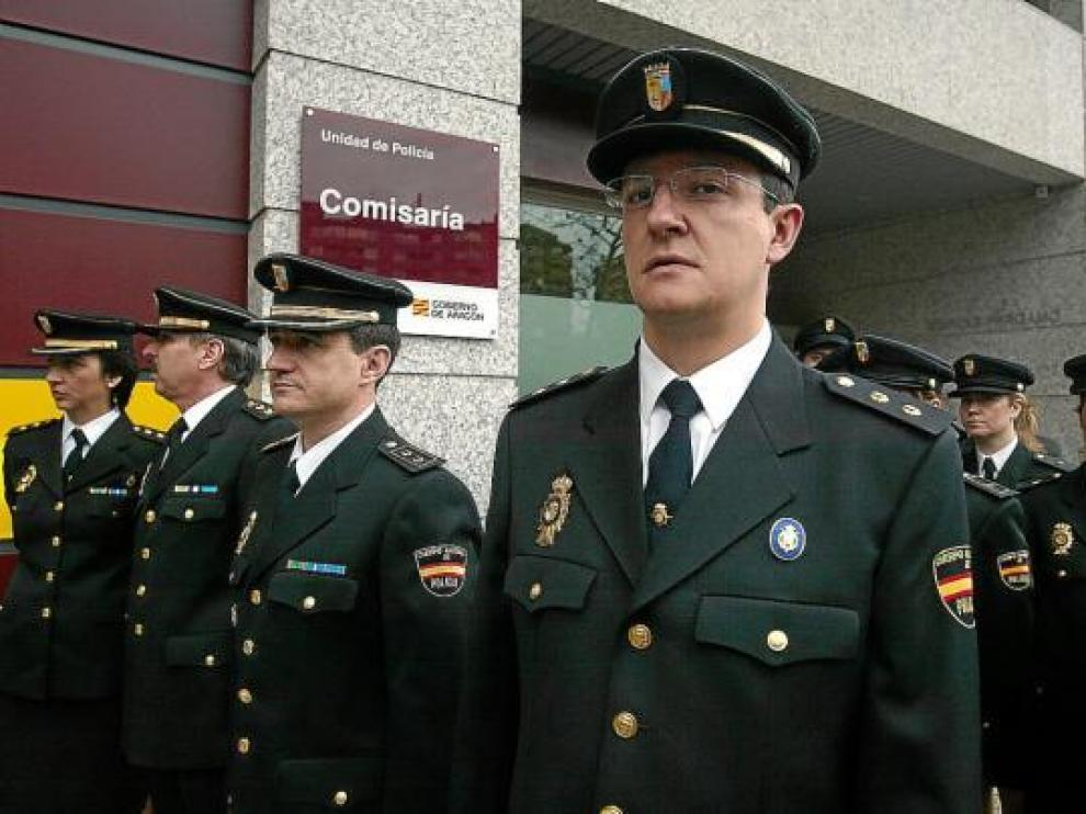 Imagen de la inauguración de la comisaría de la unidad adscrita de la Policía Nacional en 2007.
