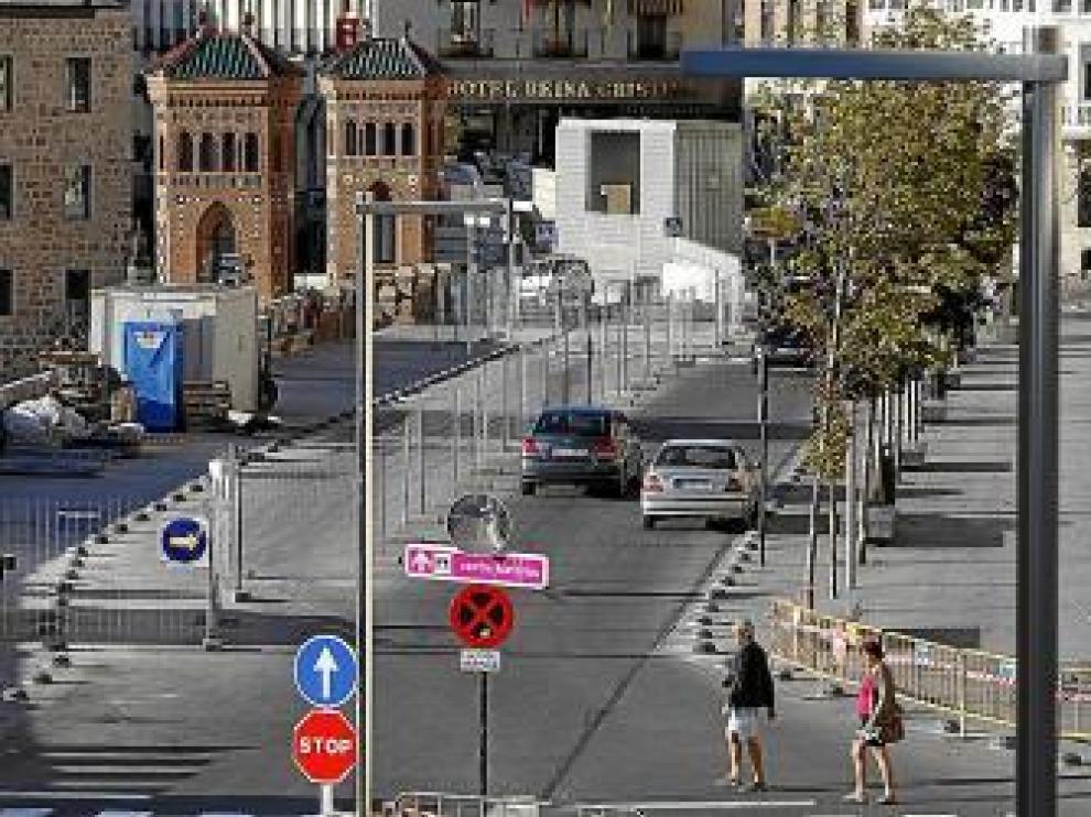 Últimos trabajos en el Óvalo para ampliar el pasillo del tráfico
