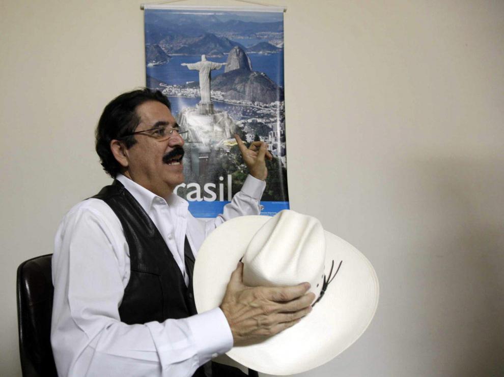 El depuesto presidente de Honduras, Manuel Zelaya