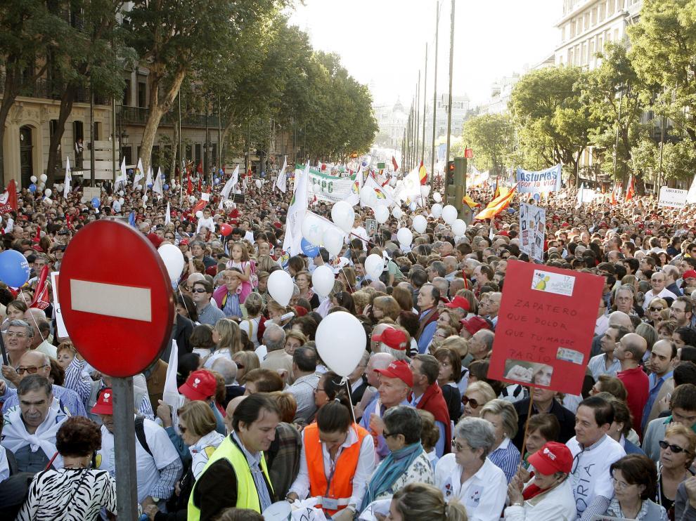 Un aspecto de la manifestación