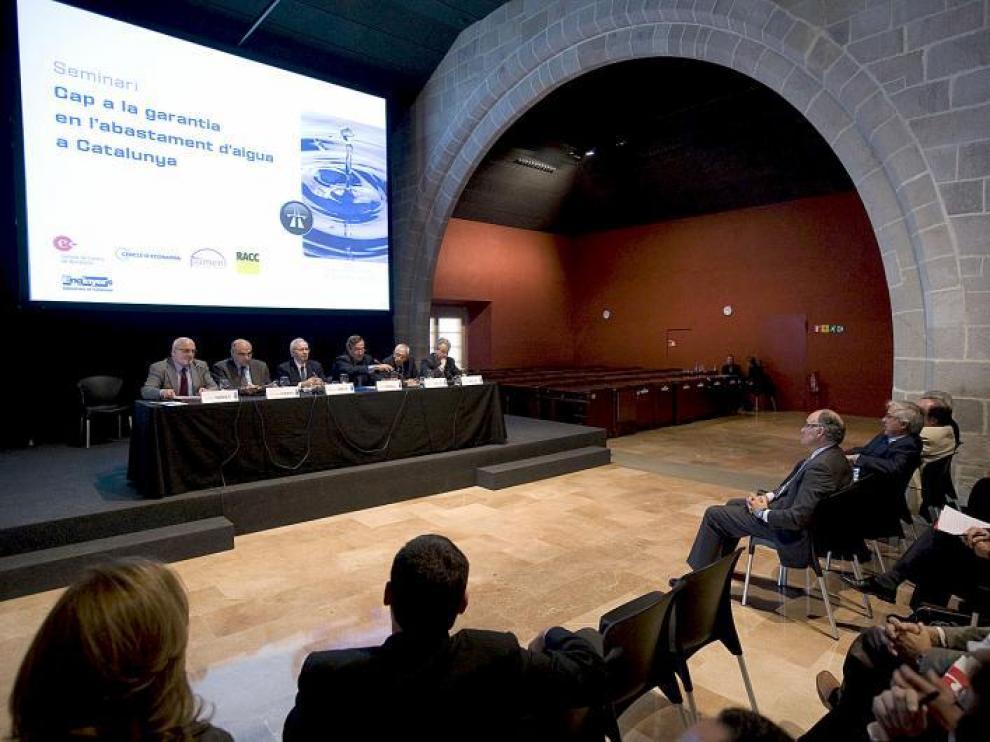El seminario del agua se celebró el pasado viernes en la sede de la Cámara de Comercio de Barcelona.