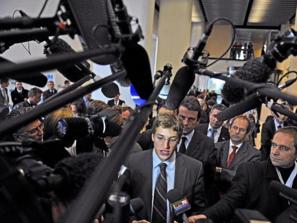 Jean Sarkozy, tras dejar Hauts de Seine, donde era consejero general (diputado provincial).