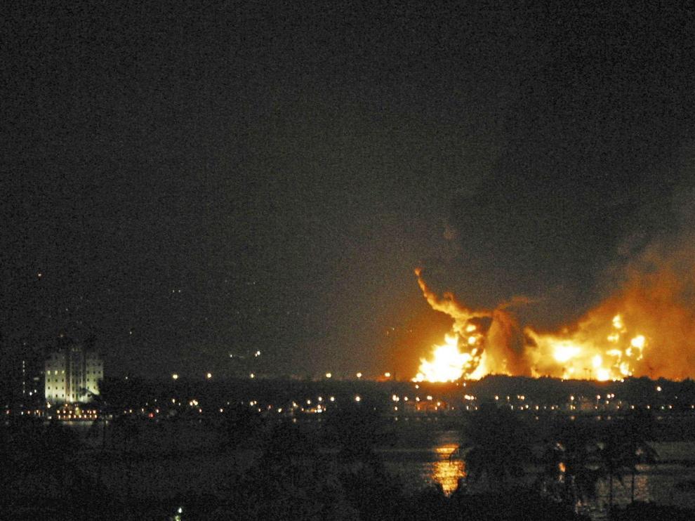 Incendio en una refinería de Pueto Rico
