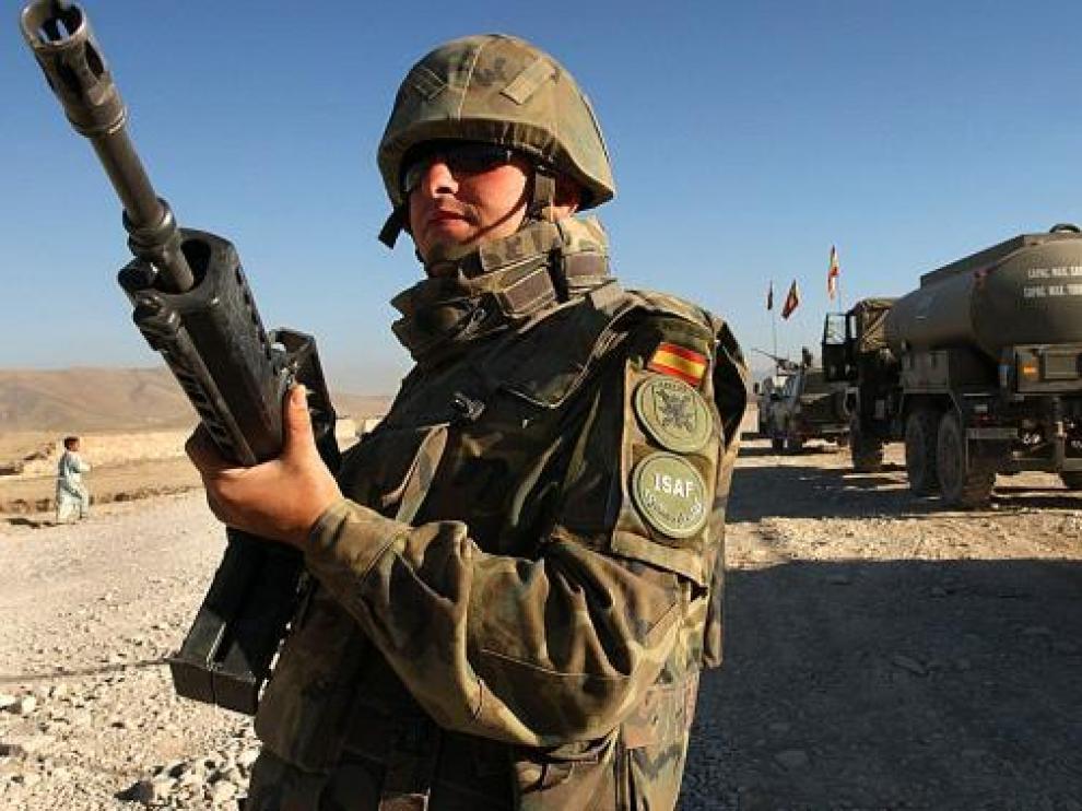 Un soldado español destacado en Afganistán.