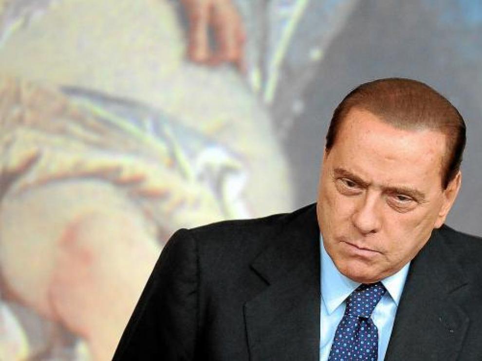 Berlusconi, en una conferencia de prensa hace unas semanas.