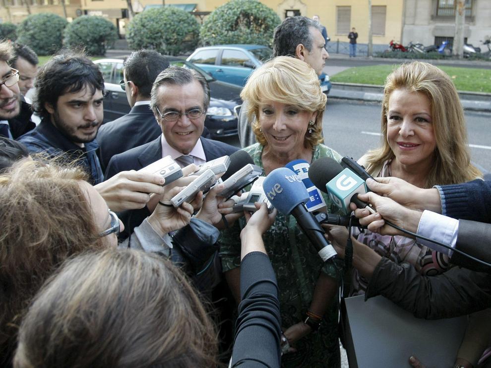 La presidenta de Madrid, Esperanza Aguirre