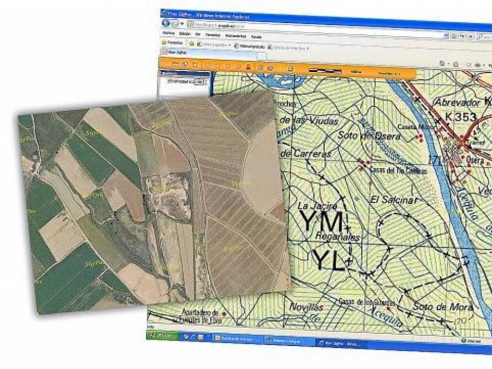 Así se ven las superficies de cultivo a través del Sistema de Identificación de Parcelas Agrarias.