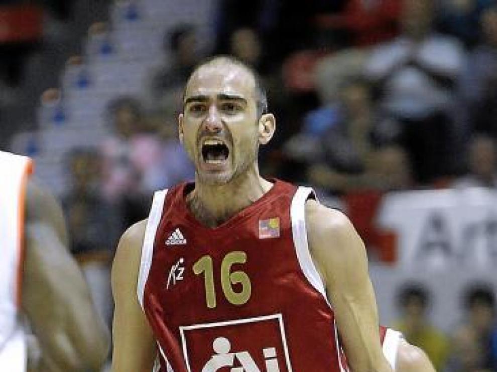 Edu Sánchez realiza un gesto de rabia en el último partido.