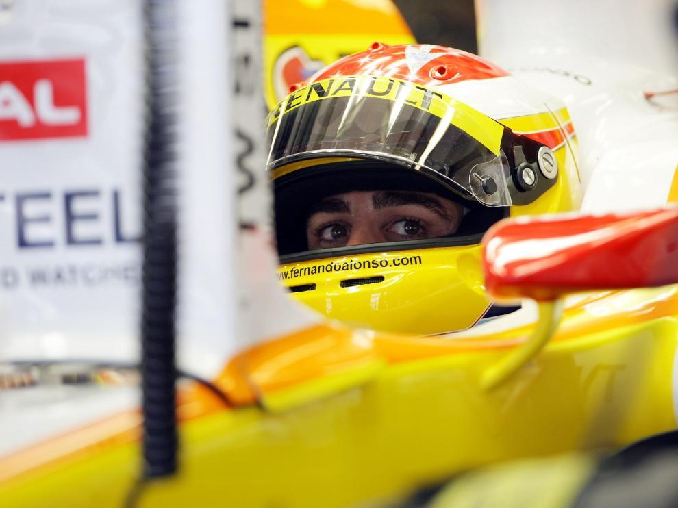 Alonso, en el circuito de Abu Dhabi