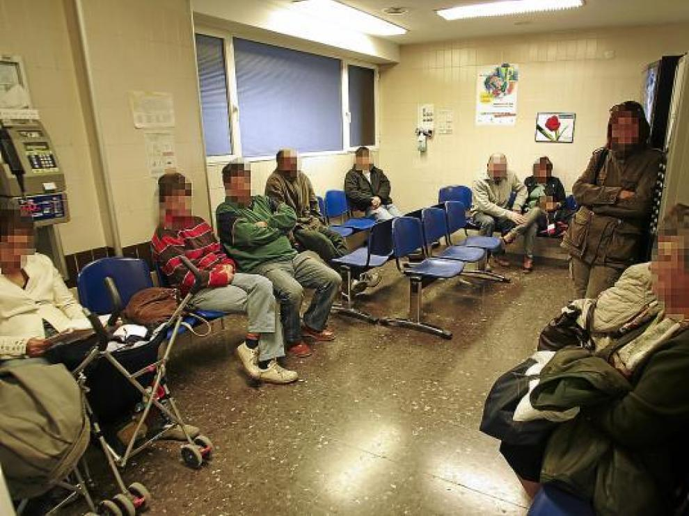 La sala de espera de la Unidad de Urgencias del hospital Obispo Polanco.
