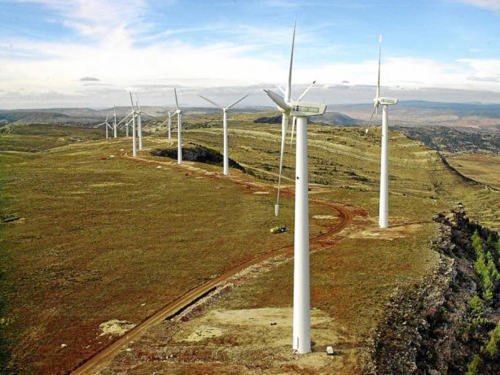 En Aragón funcionan 87 parques eólicos.