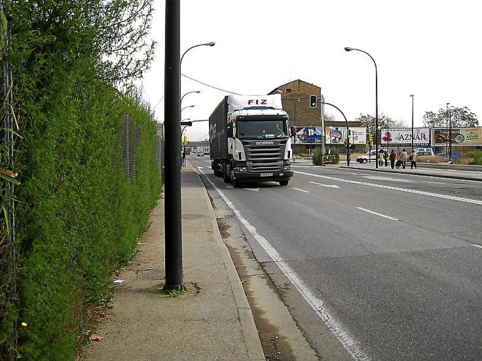 La avenida Cataluña, cerca del Tercer Cinturón.