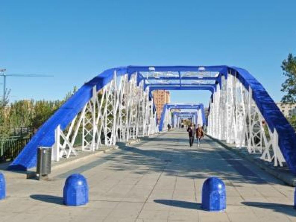 El Puente de Hierro se vestirá con los colores del Real Zaragoza