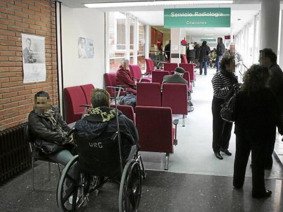 El área de Citaciones del hospital Obispo Polanco de Teruel registra a diario una gran actividad.