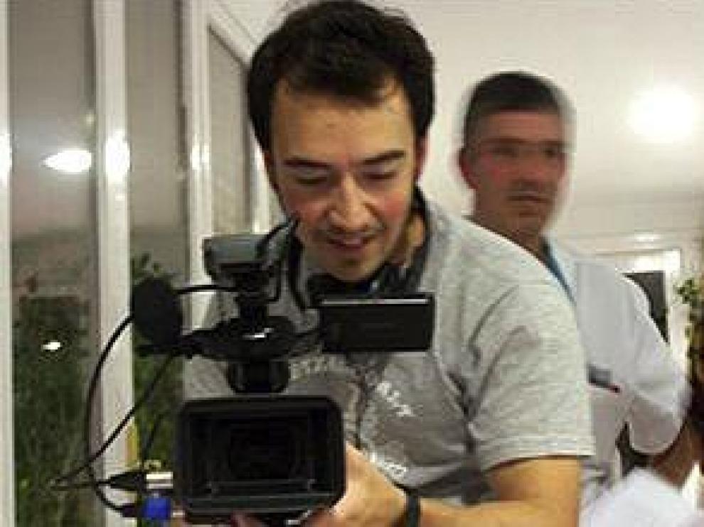 Los tres autores del documental: Javi Fernández, Antonio Charles, Milagros Arrebola.