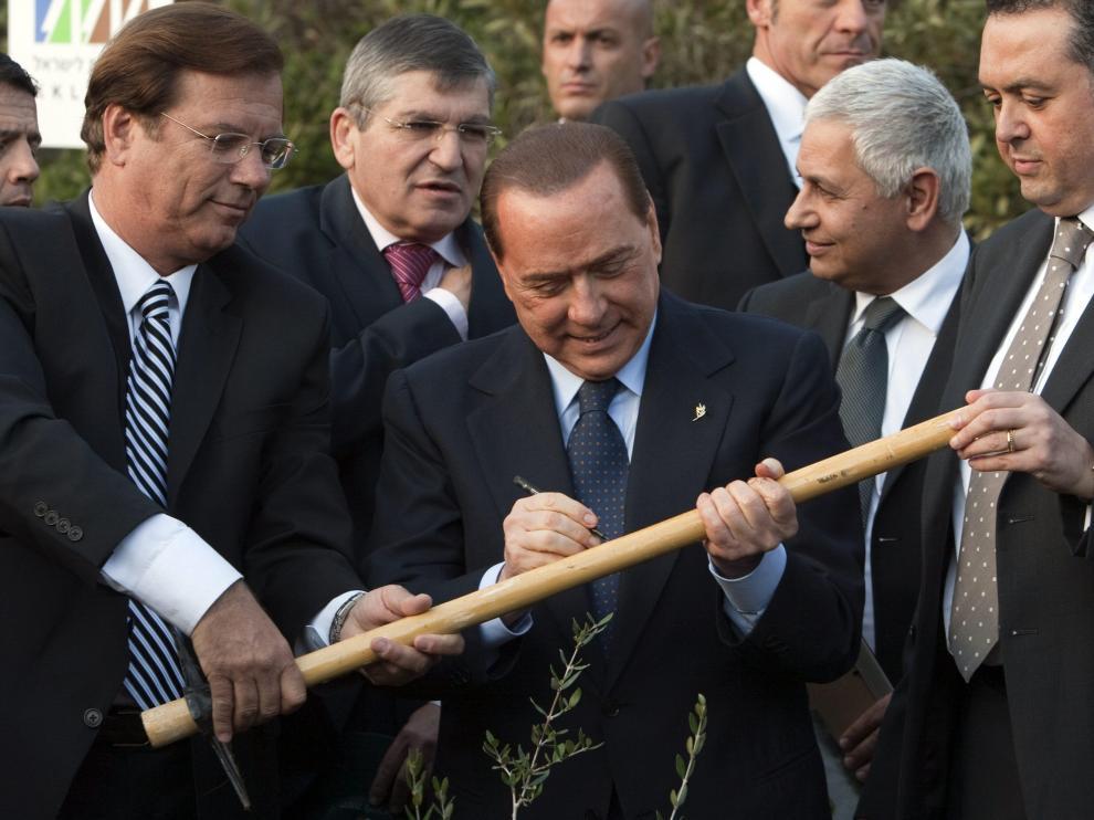 Berlusconi, durante su visita a Israel