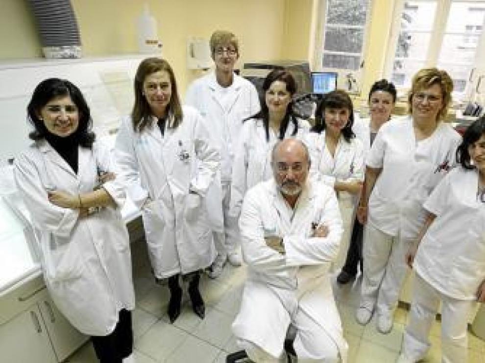 Parte del equipo que forma el servicio de Anatomía Patológica
