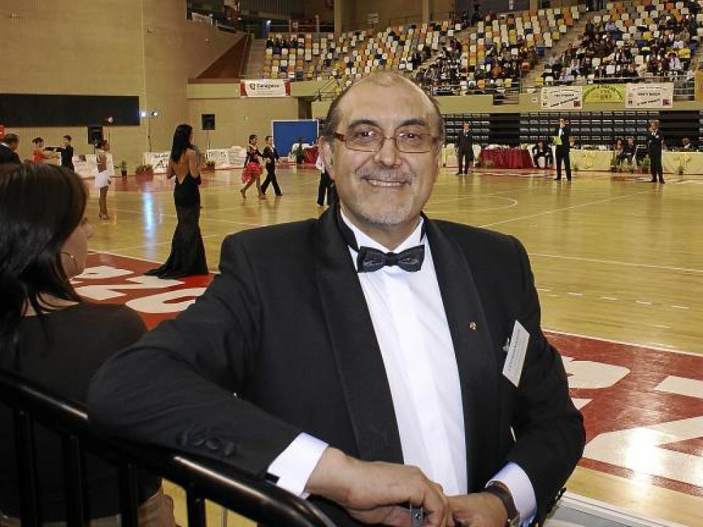 Santiago Sáinz, en el Campeonato de España de 10 Bailes del año 2008, celebrado en el Pabellón Siglo XXI de Zaragoza.