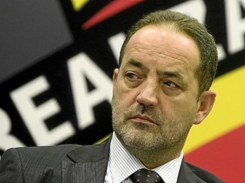 El accionista mayoritario, Agapito Iglesias, en una anterior Junta General