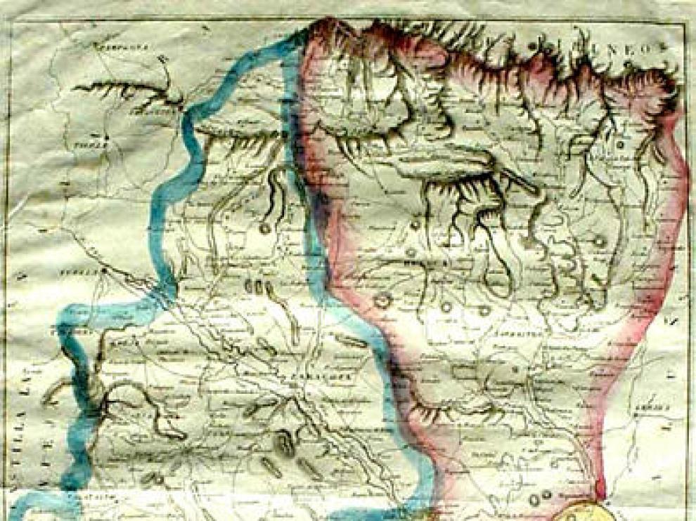 Mapa de 1838, uno de los que va ser digitalizado.