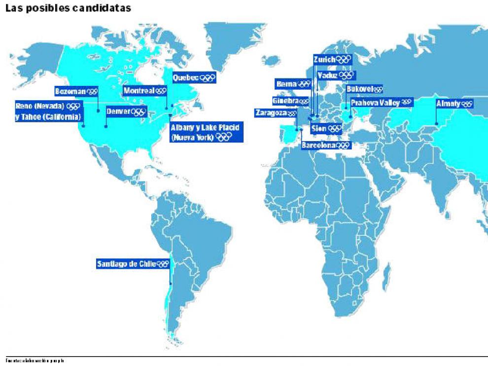 Otra veintena de ciudades aspiran a organizar los Juegos de 2022