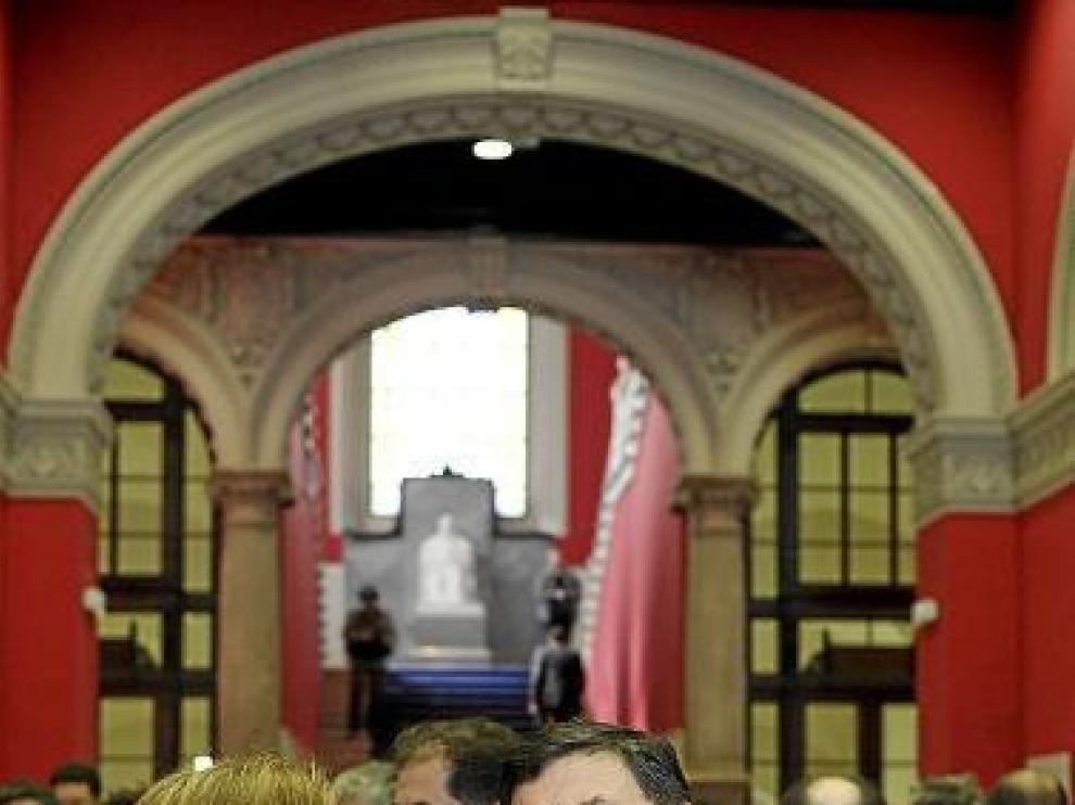 La consejera y el rector, en la celebración del día de San Braulio.
