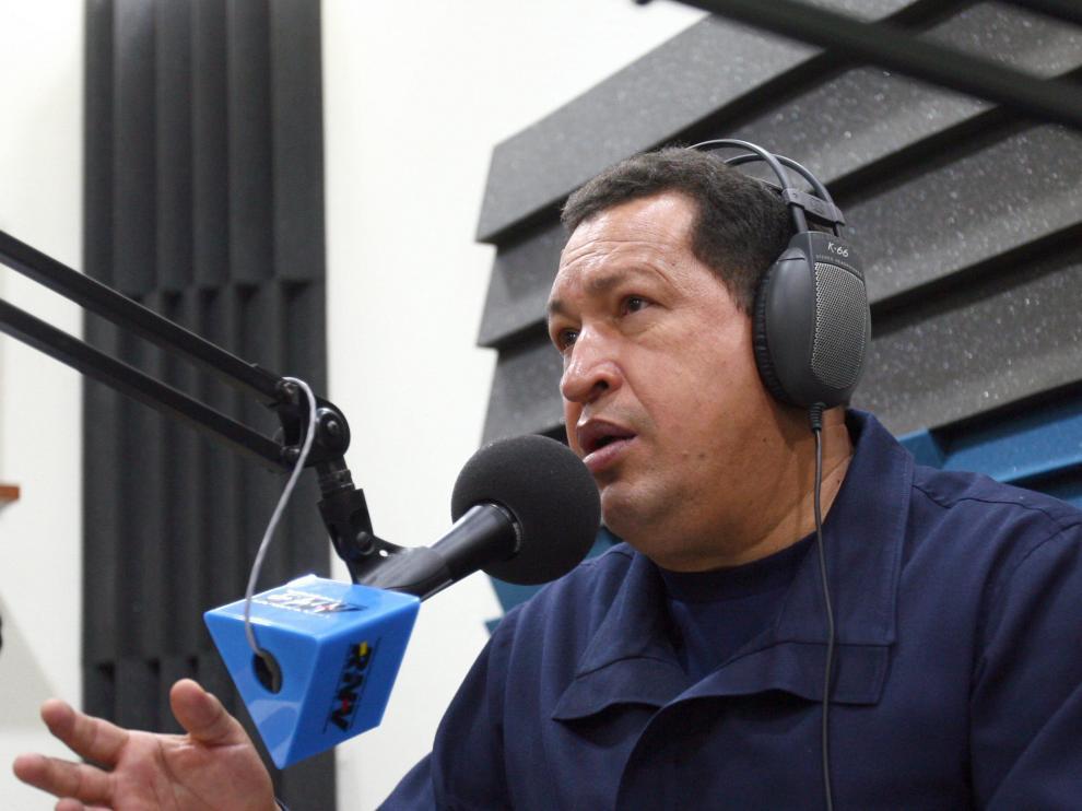 Hugo Chávez durante la emisión de su nuevo programa