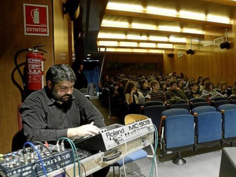 Juanjo Javierre, en la Filmoteca de Zaragoza